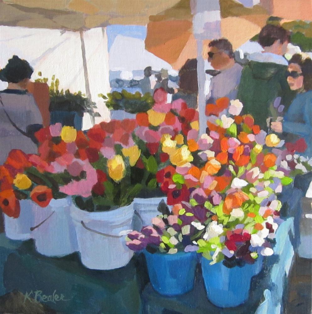"""""""The Flower Table"""" original fine art by Kaethe Bealer"""