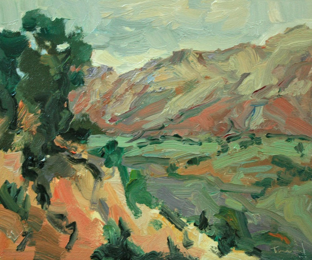 """Gray Day Capitol Reef"" original fine art by Kathryn Townsend"