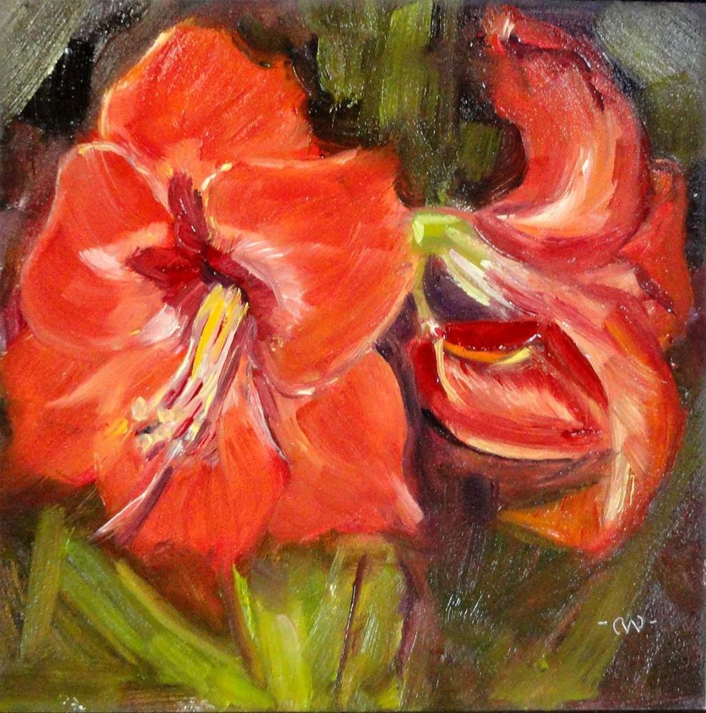 """Amaryllis Joy"" original fine art by Cietha Wilson"