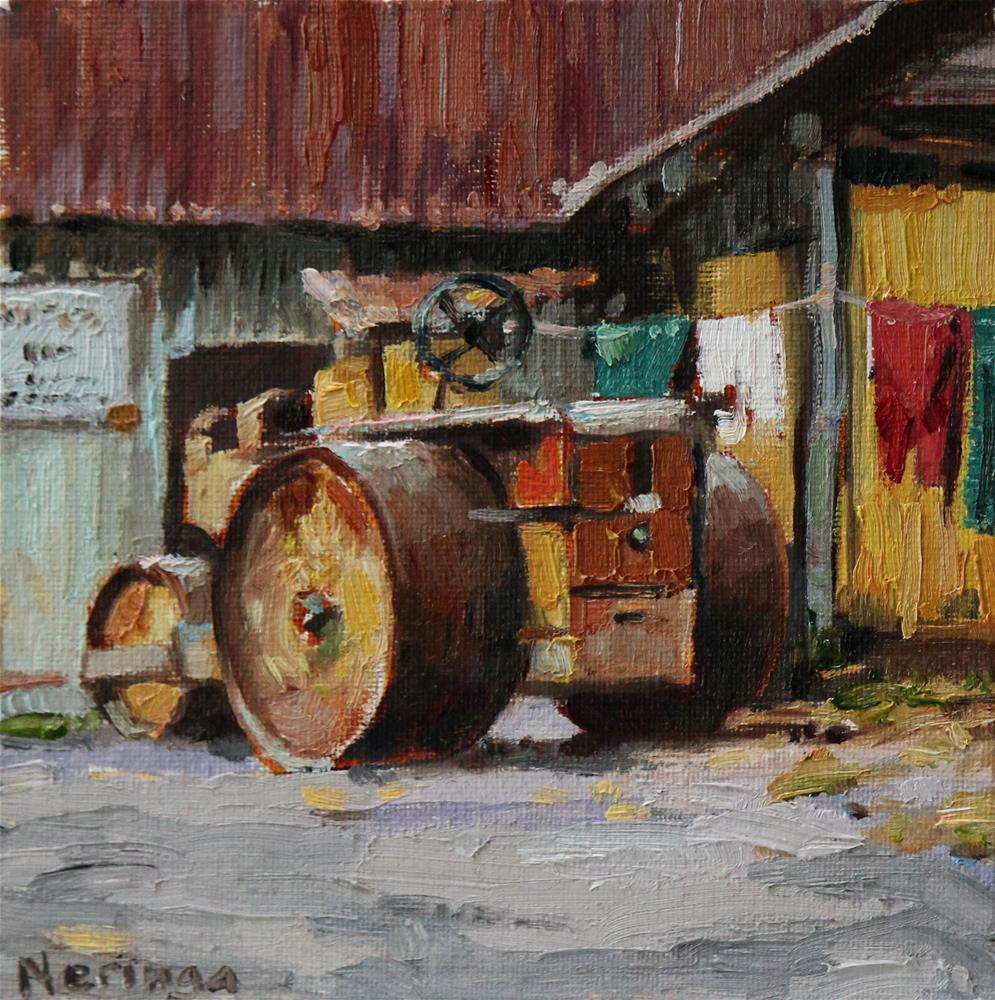 """Parked at Home"" original fine art by Neringa Maxwell"