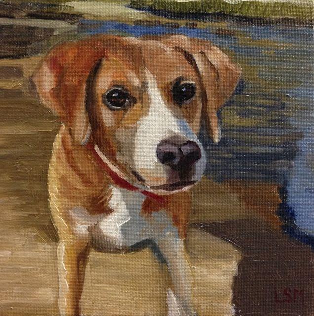 """Nigel"" original fine art by Linda Marino"
