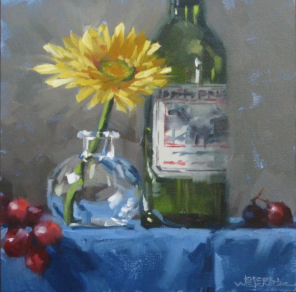 """""""Yellow Flower"""" original fine art by Karen Werner"""