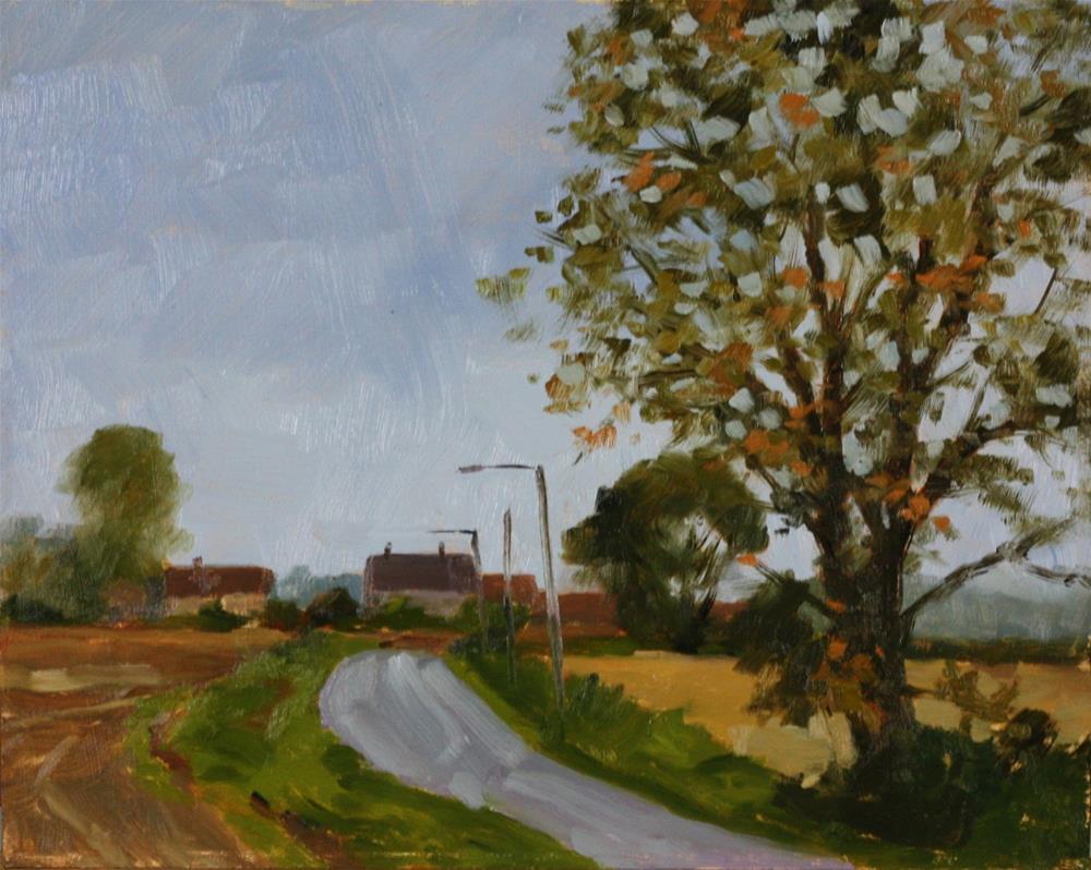 """Road to Masnuy St. Jean"" original fine art by Graham Townsend"