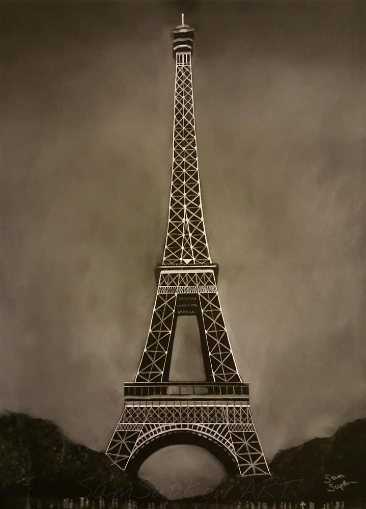 """Eiffle Tower."" original fine art by Sam Supkow"