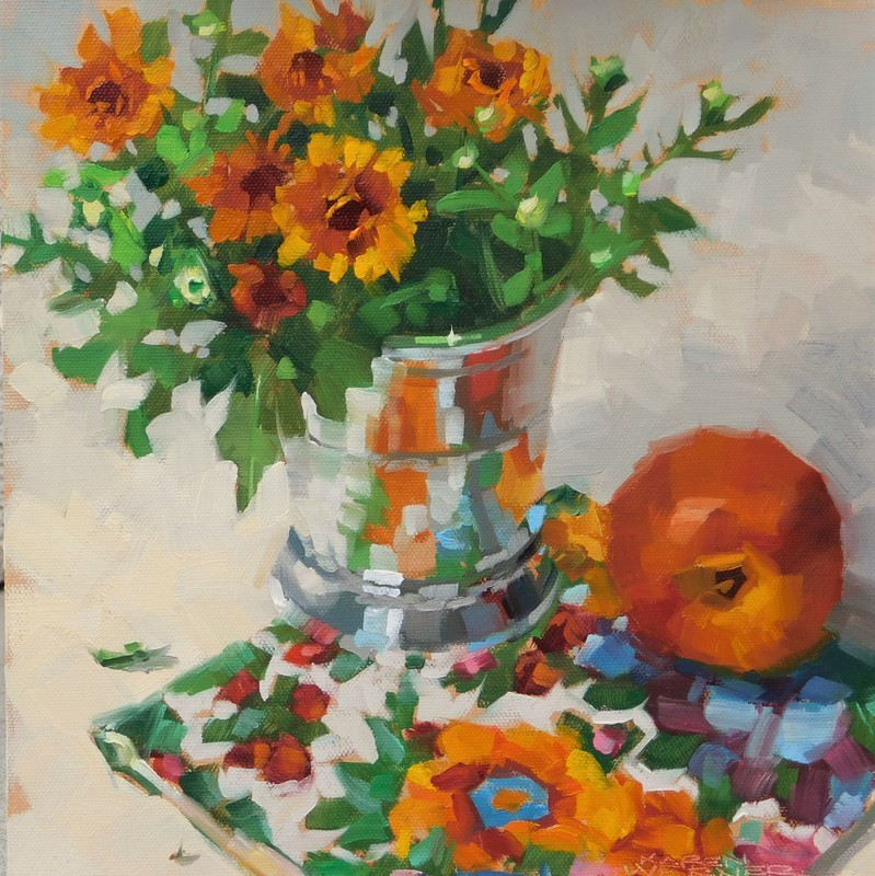"""Still Life On A Party Napkin"" original fine art by Karen Werner"