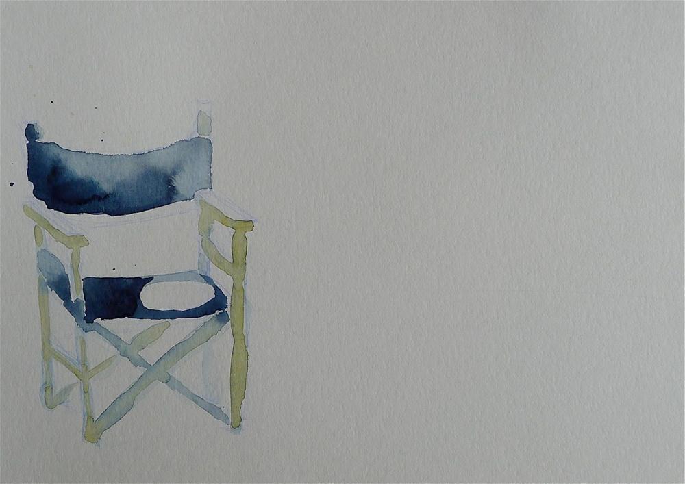 """""""Blue chair"""" original fine art by Ulrike Schmidt"""