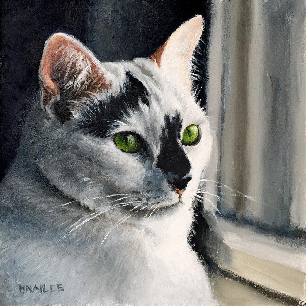 """""""Cat Commission No.1"""" original fine art by Michael Naples"""