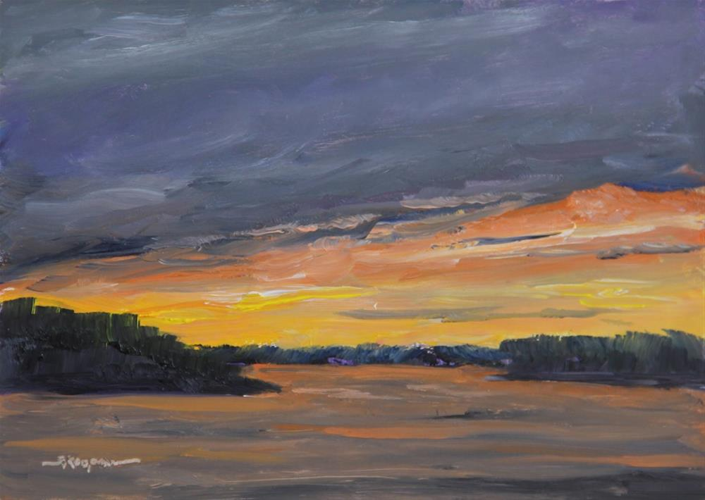 """""""Sunset After the Storm"""" original fine art by Shelley Koopmann"""