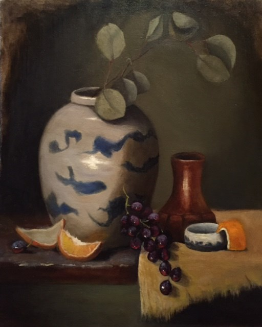 """Chinese Ginger Jar"" original fine art by Cheryl J Smith"