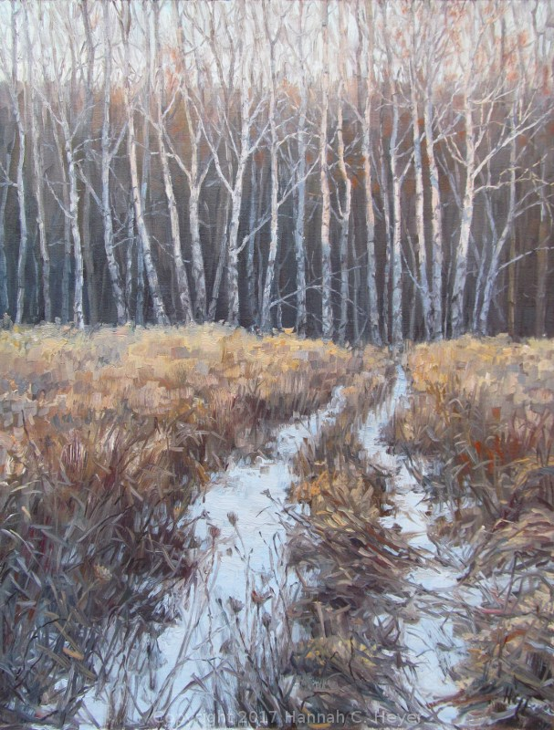 """Tracks to the Woods"" original fine art by Hannah C. Heyer"