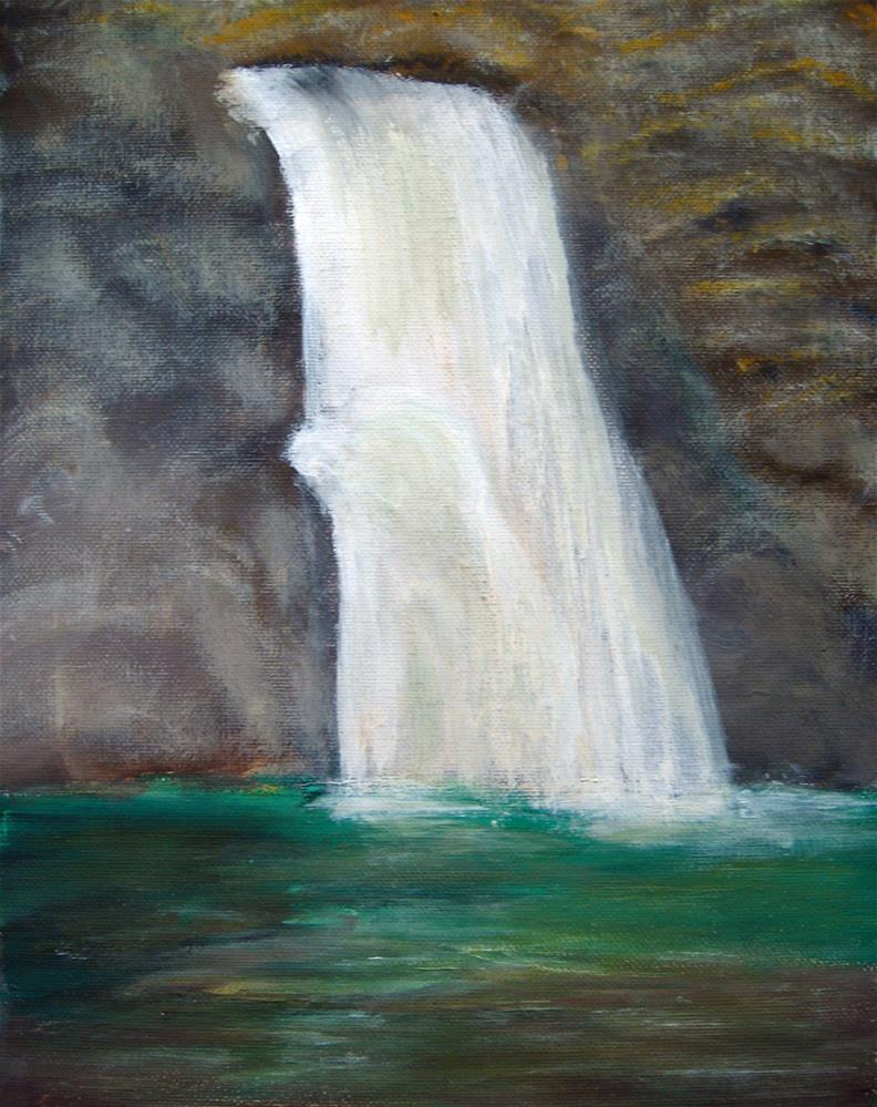 """A Walk To The Waterfall"" original fine art by Alina Frent"