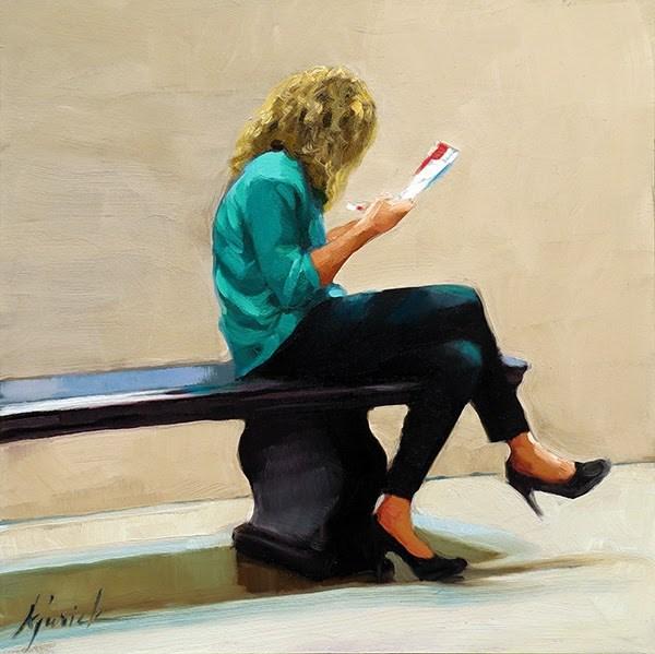 """Big Hair"" original fine art by Karin Jurick"