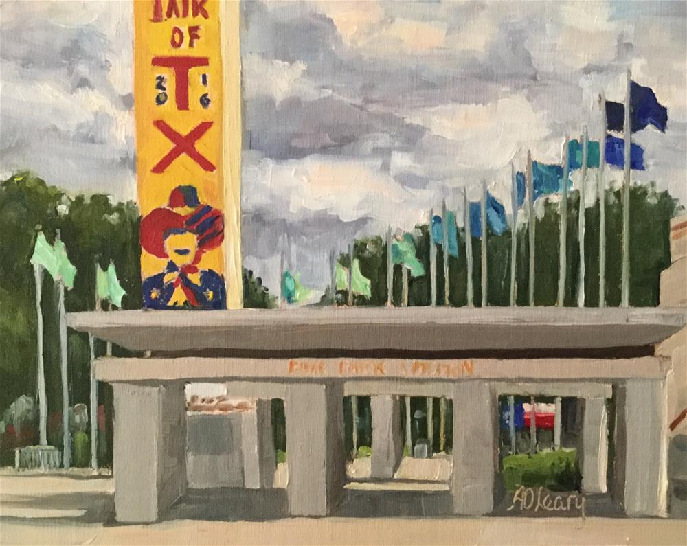 """""""State Fair Welcome"""" original fine art by Alice O'Leary"""