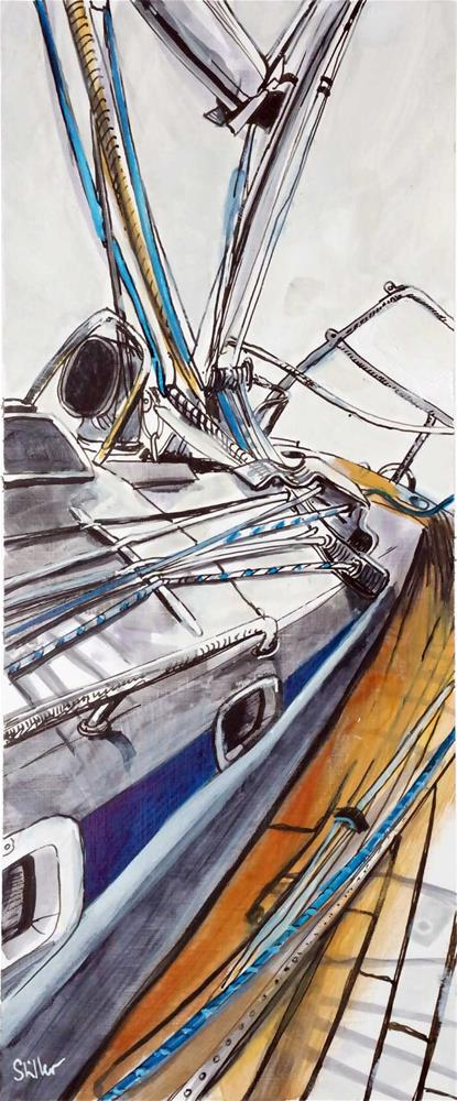 """3065 Sailboattrip 03"" original fine art by Dietmar Stiller"