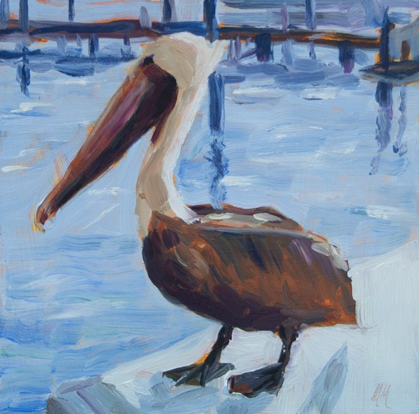 """Pelican"" original fine art by Maria McNitt"