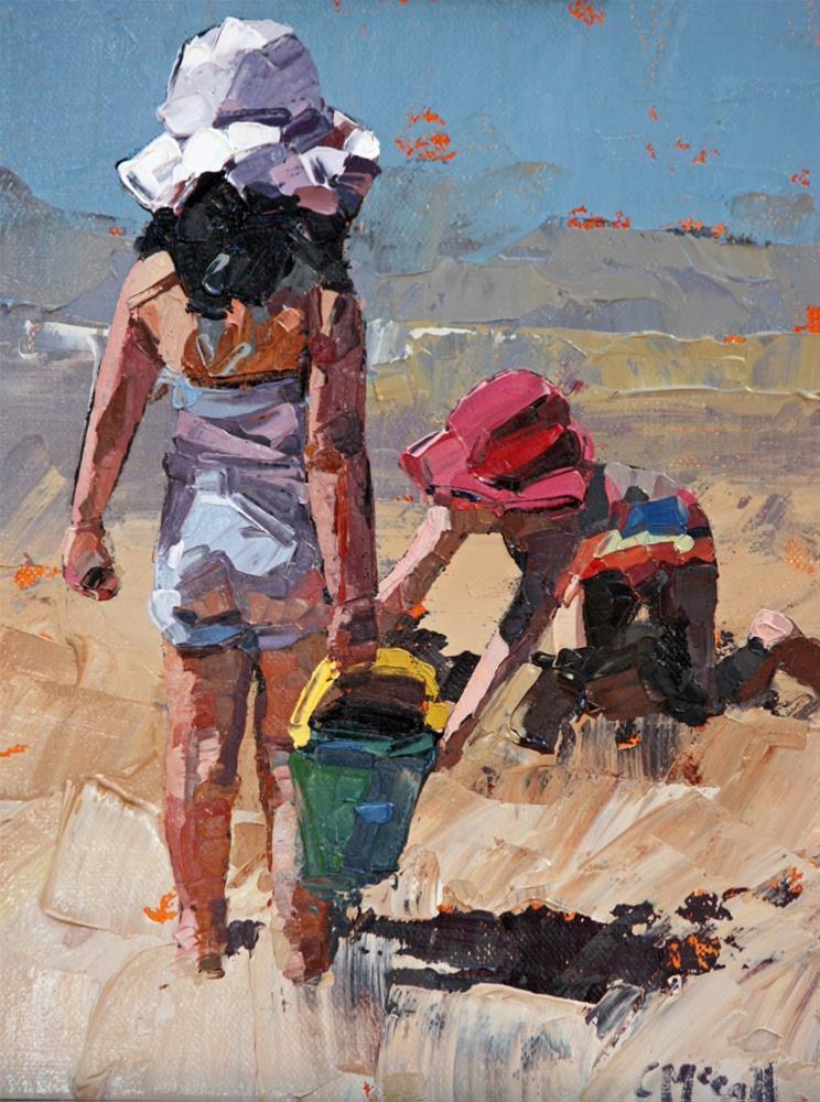 """Sandcastles Petite"" original fine art by Claire McCall"