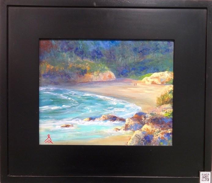 """""""1023 - Red Rock Cove"""" original fine art by Sea Dean"""