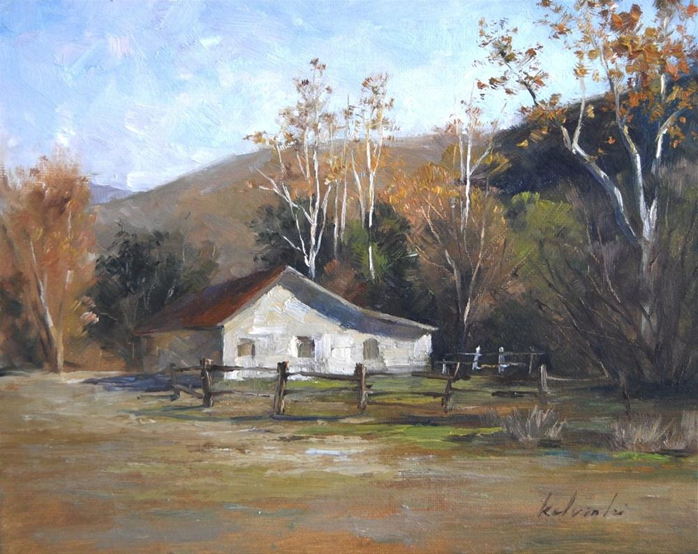 """Morning in the Almaden Valley"" original fine art by Kelvin Lei"