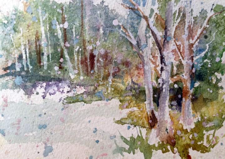 """Winter Scene 2"" original fine art by Sue Dion"