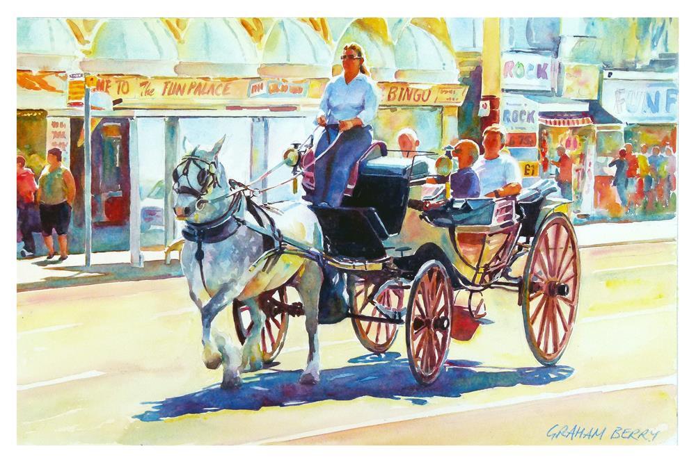 """A Landau on the Golden Mile"" original fine art by Graham Berry"