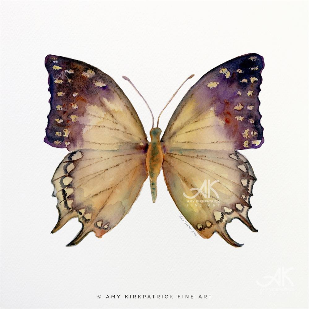 """""""#63 Great Nawab Butterfly #0373"""" original fine art by Amy Kirkpatrick"""