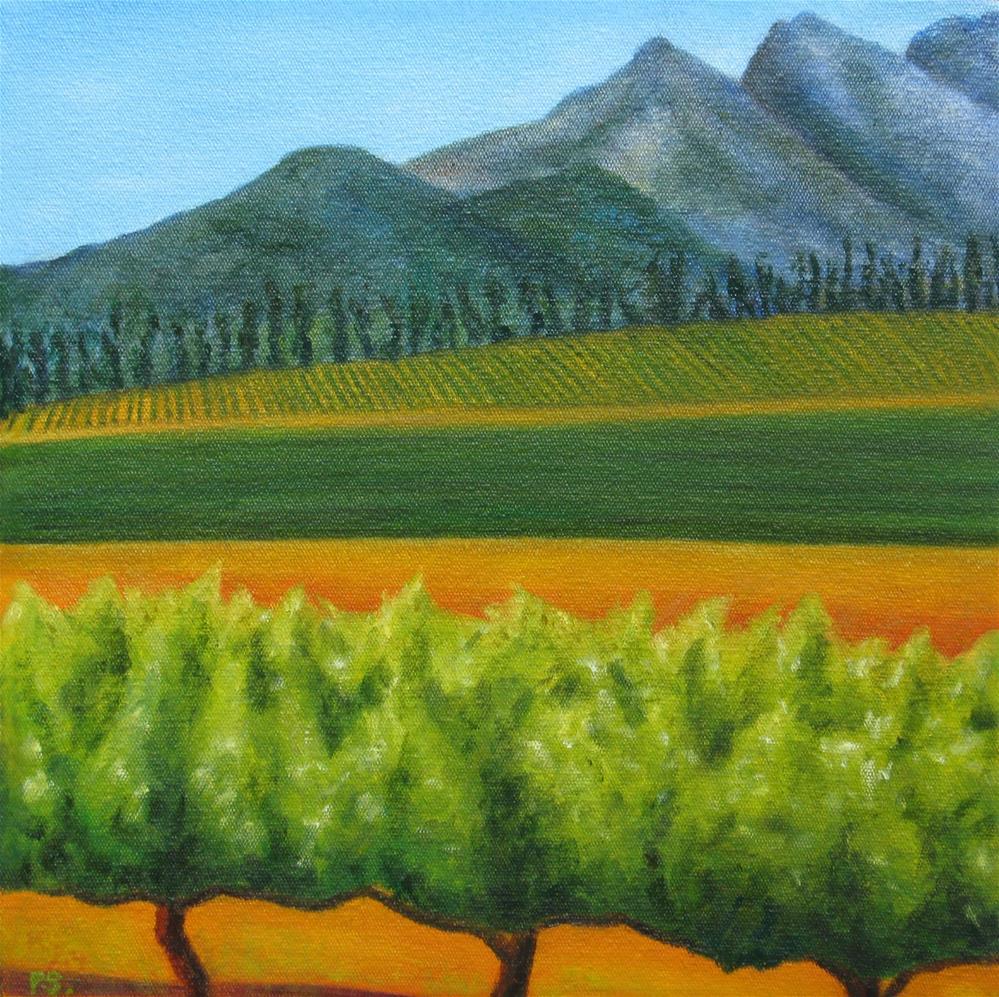 """""""Magical Stellenbosch IV"""" original fine art by Pera Schillings"""