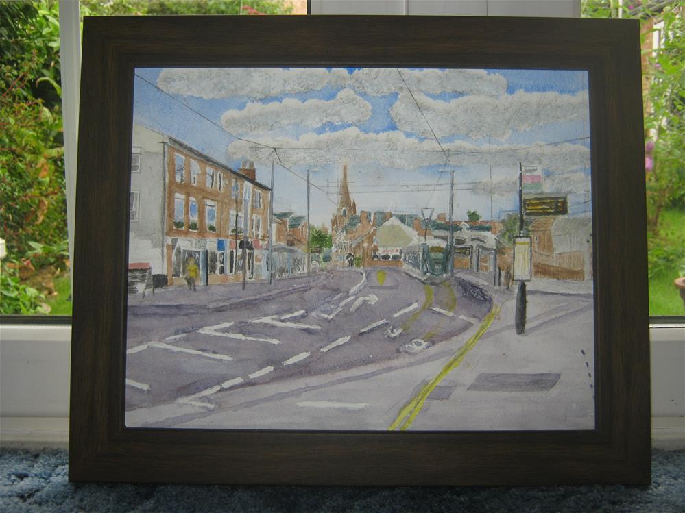 """""""Tram in Beeston Nottingham"""" original fine art by Michelle Archer"""