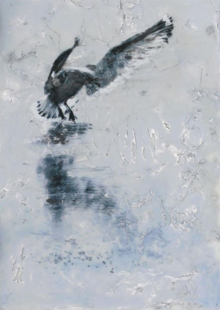 """Ice Landing #2"" original fine art by Heather Douglas"