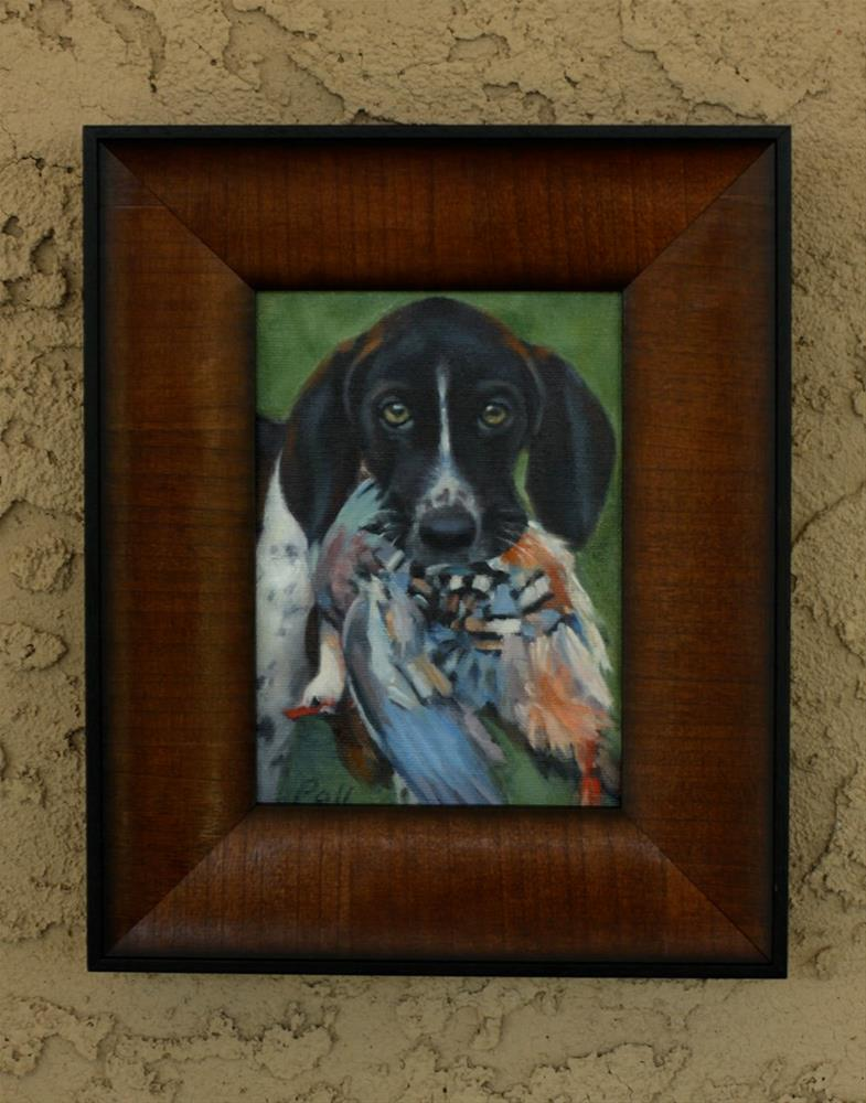"""""""Pet Portrait"""" original fine art by Pamela Poll"""