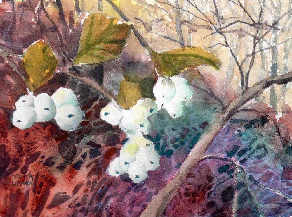 """Season of the Snowberries"" original fine art by Melissa Gannon"