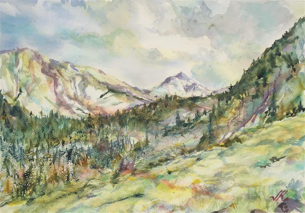 """Comanche Lake Approach, Colorado"" original fine art by Jean Krueger"