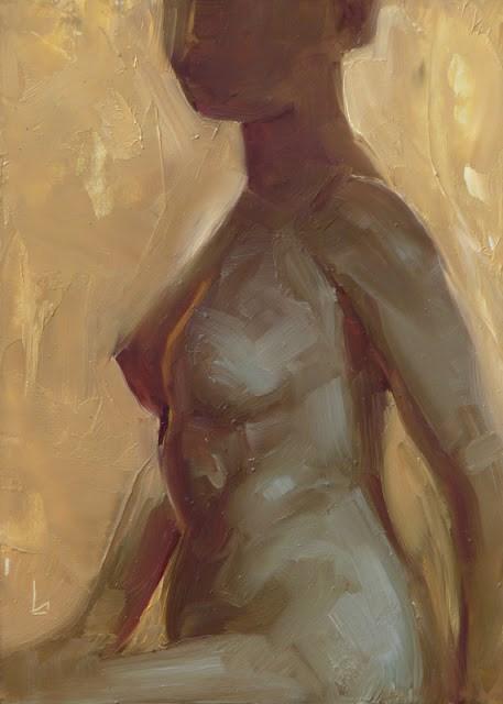 """Gold Nude"" original fine art by John Larriva"