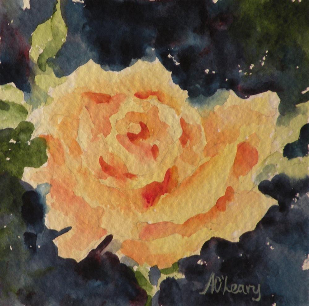 """Lone Star Rose"" original fine art by Alice O'Leary"
