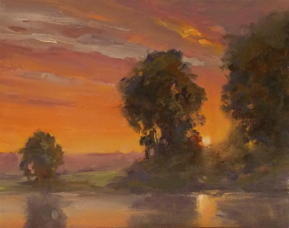 """ Hidden Sunset "" original fine art by Doug Carter"