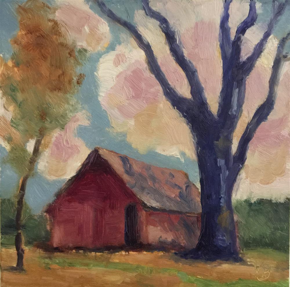 """""""The Barn"""" original fine art by Victoria  Biedron"""