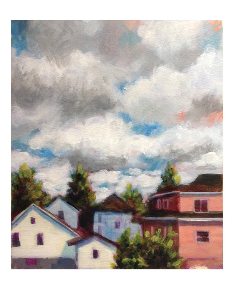 """""""Clouds And Houses"""" original fine art by Suzanne Woodward"""