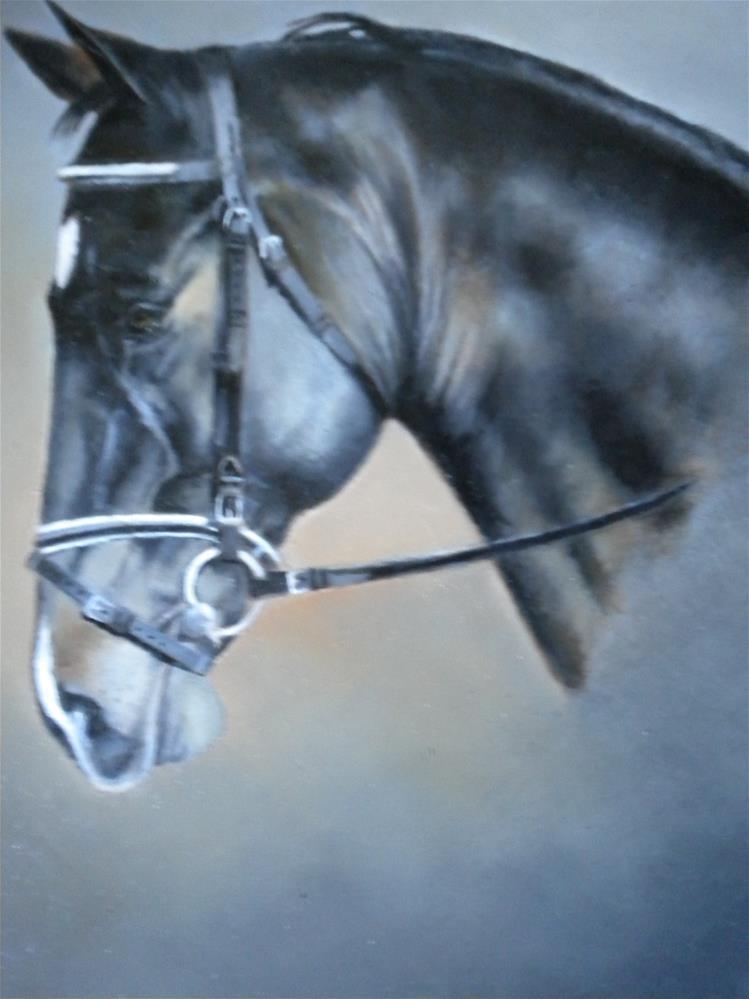 """""""Cute little Dutch Horse"""" original fine art by Hilarie Johnson"""