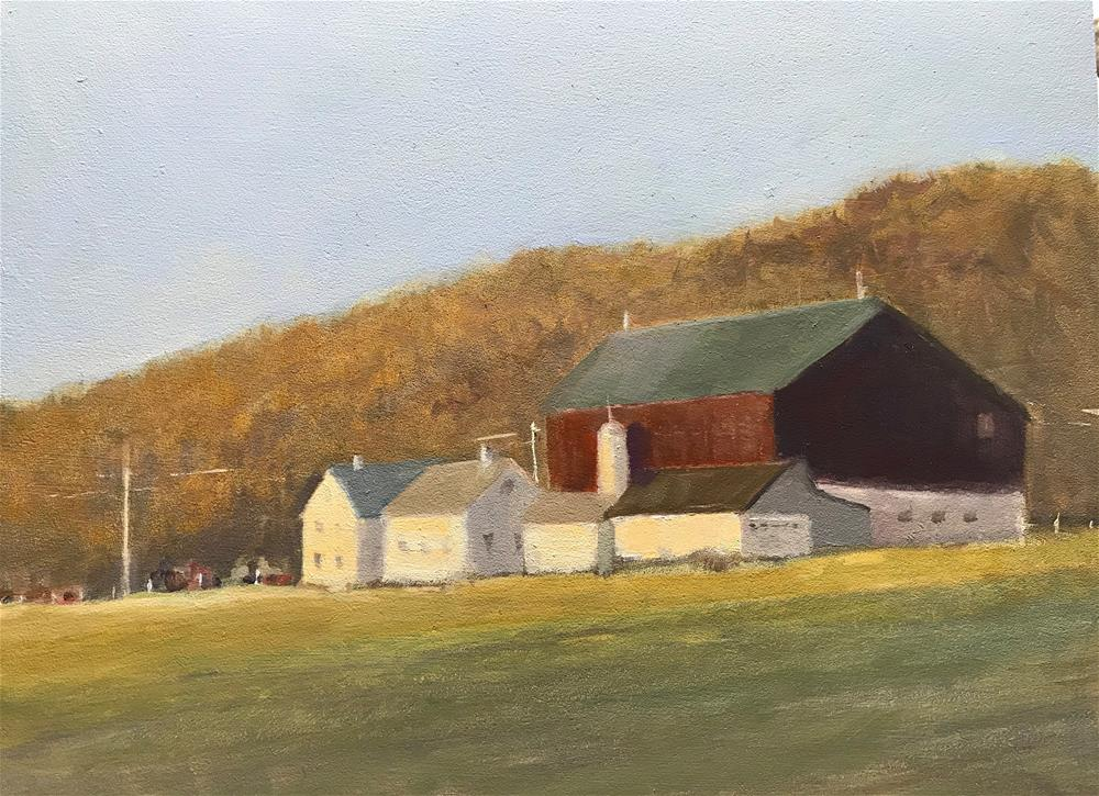 """early morning in November at Scott, Pa."" original fine art by Betty Argiros"