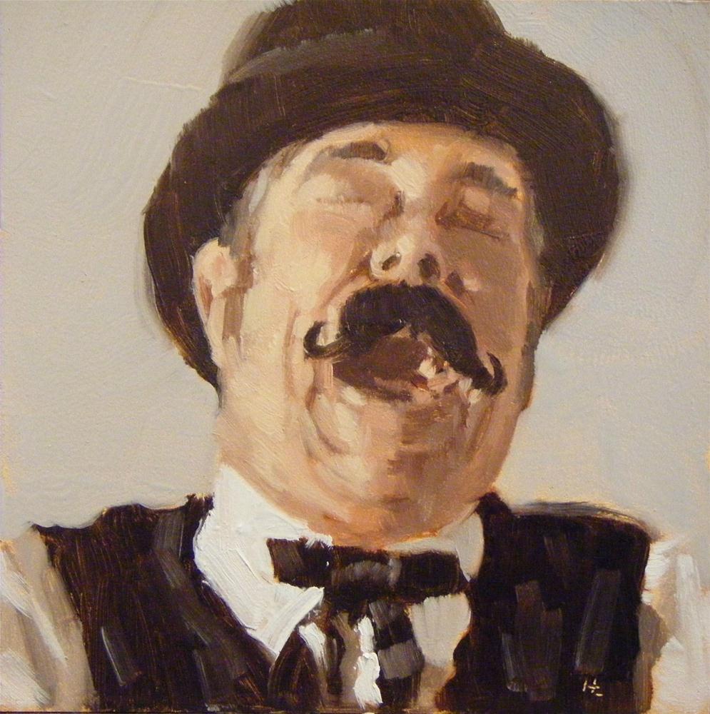 """""""FACE IT #31DERBY CHAP #2"""" original fine art by Helen Cooper"""