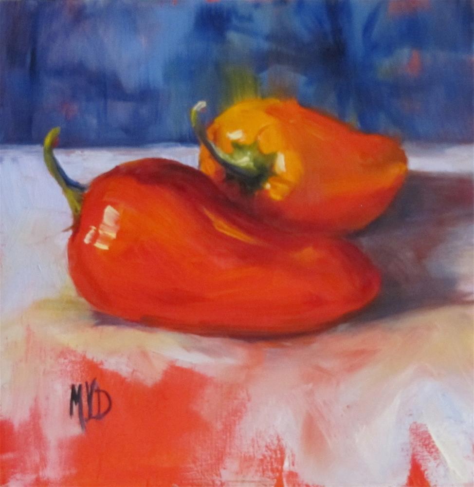 """Mini Peppers"" original fine art by Mary Van Deman"
