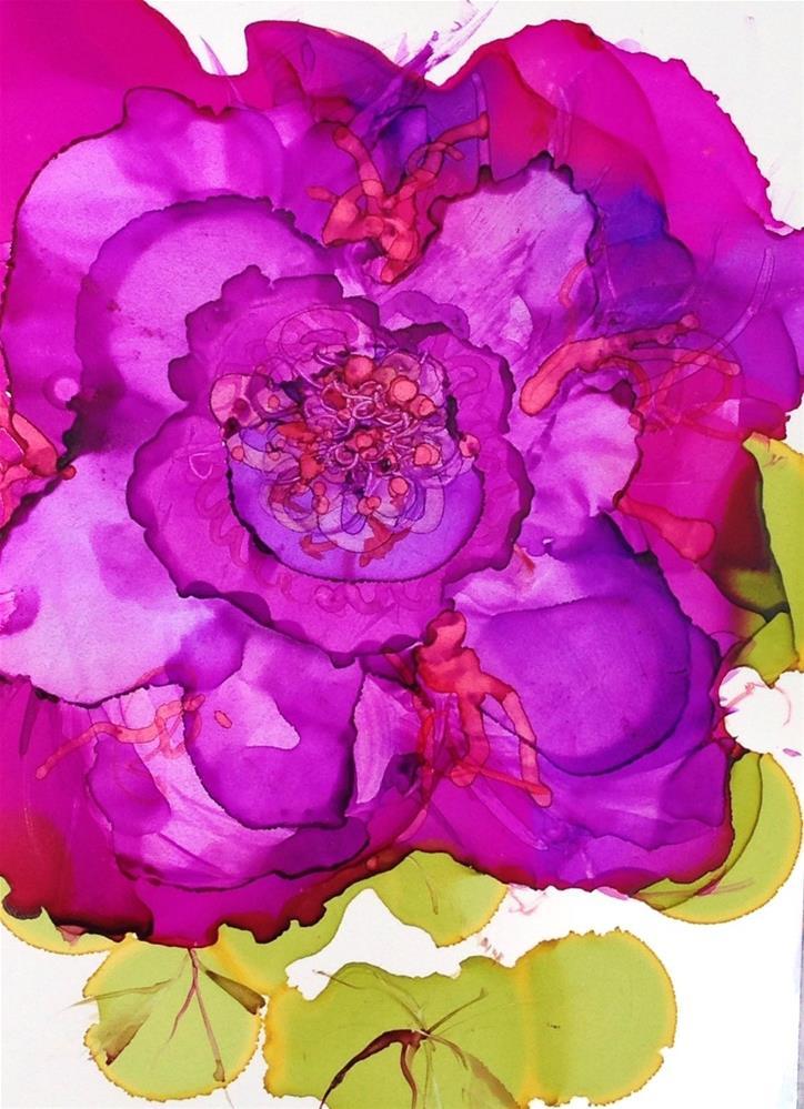 """Giant Fuchsia"" original fine art by Kelly Alge"