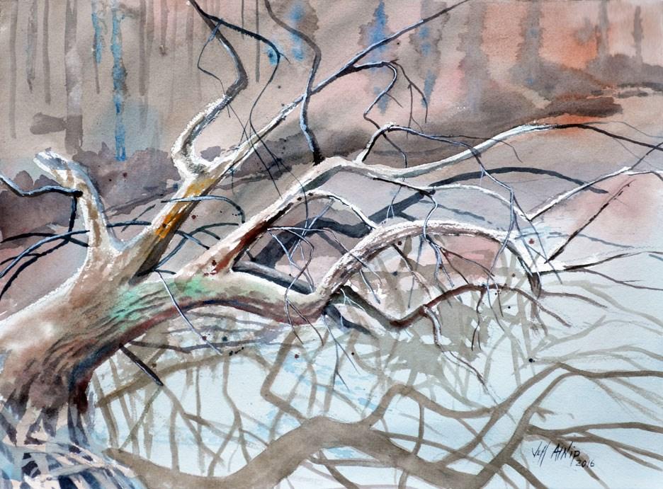 """Overhanging"" original fine art by Jeff Atnip"