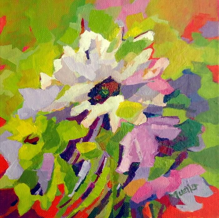 """Hoopla"" original fine art by Laurie Mueller"