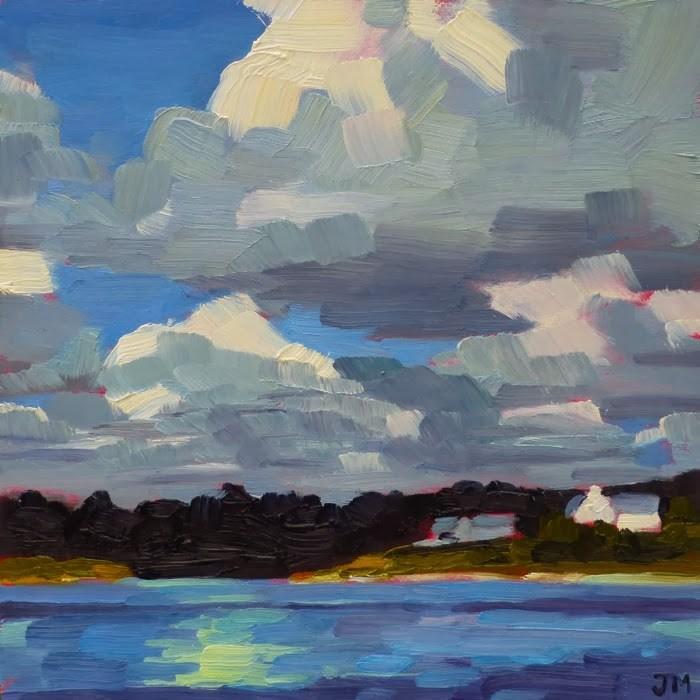 """Hamptons Morning"" original fine art by Jessica Miller"