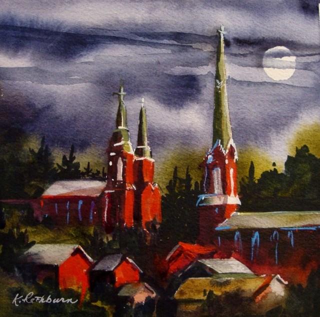 """Reaching for the Moon"" original fine art by Kathy Los-Rathburn"