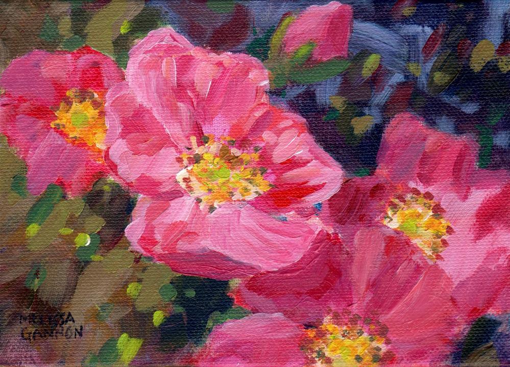 """Dancing Roses"" original fine art by Melissa Gannon"