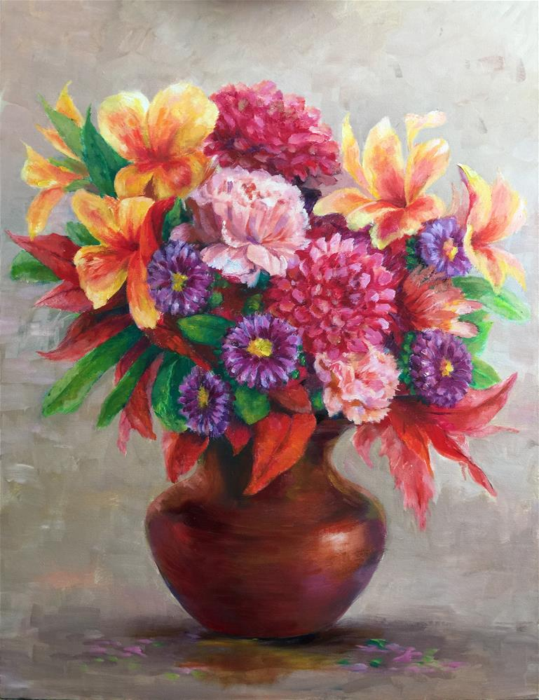 """flowers"" original fine art by Joy Cai"
