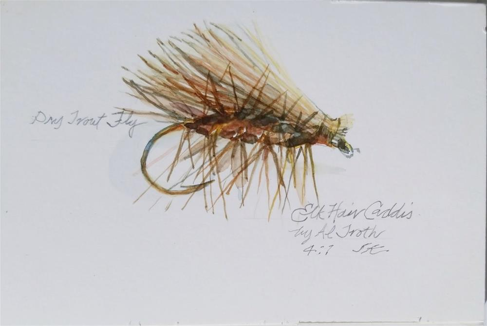 """Elk Hair Caddis"" original fine art by Jean Krueger"