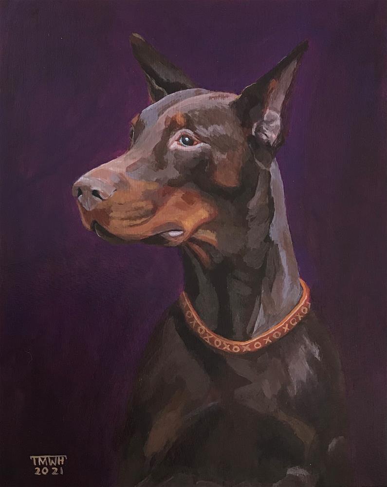 """Dobie Love"" original fine art by Tracy Hurley"
