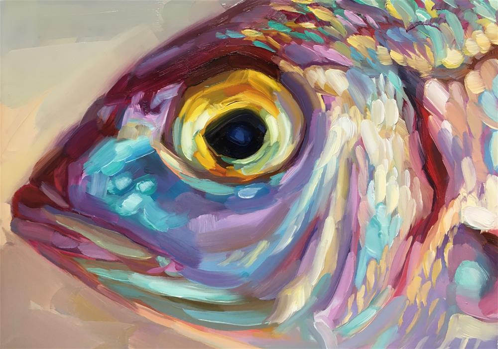 """Fish Study 19"" original fine art by Holly Storlie"